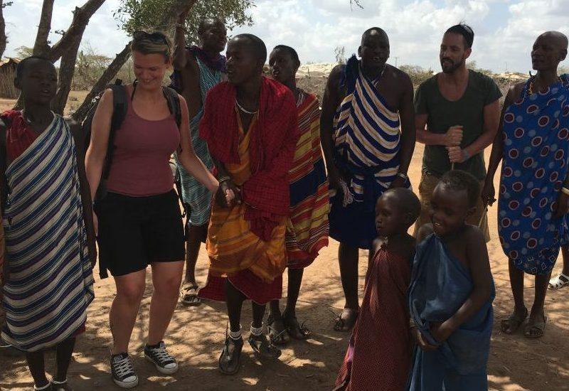 Massai Dorf in Kenia