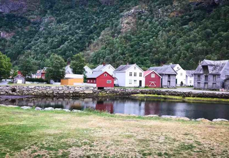 Die Altstadt in Laerdal, Norwegen