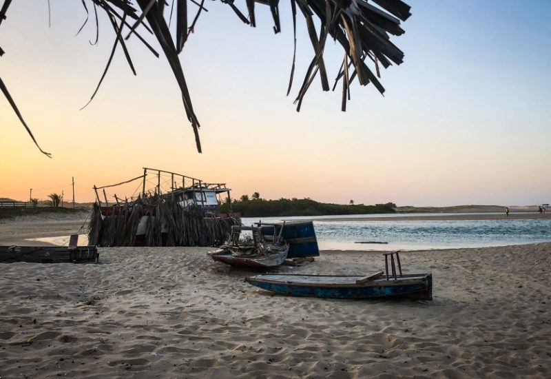 Kitesurfen in Barra Nova, Brasilien