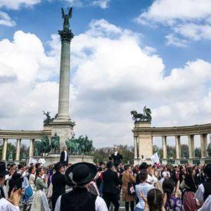 Der Heldeplatz im Stadtteil Pest, Städtereise Budapest.