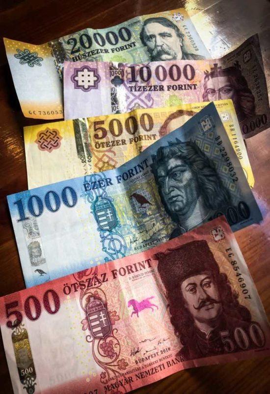 Städtereise nach Budapest, Bezahlen in der Haupstadt Ungarns