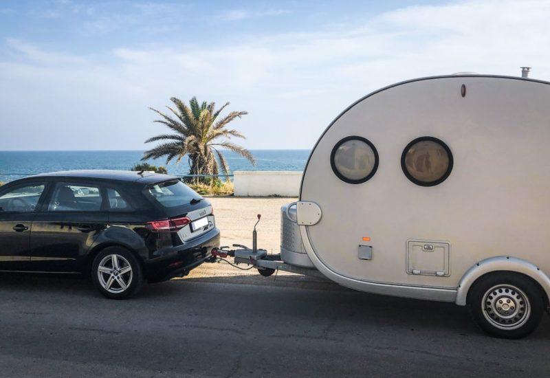 Camping auf Sizilien, mit dem Wohnwagen um die Insel.