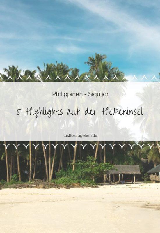 Die kleine philippinische Insel Siquijor hat einiges zu bieten. 5 Highlights verraten Dir Jasmin & Valentin.