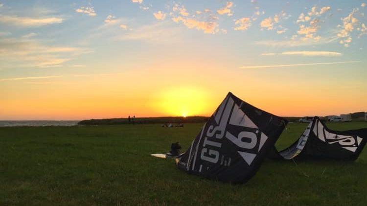 Kitesurfen und Camping auf Fehmarn