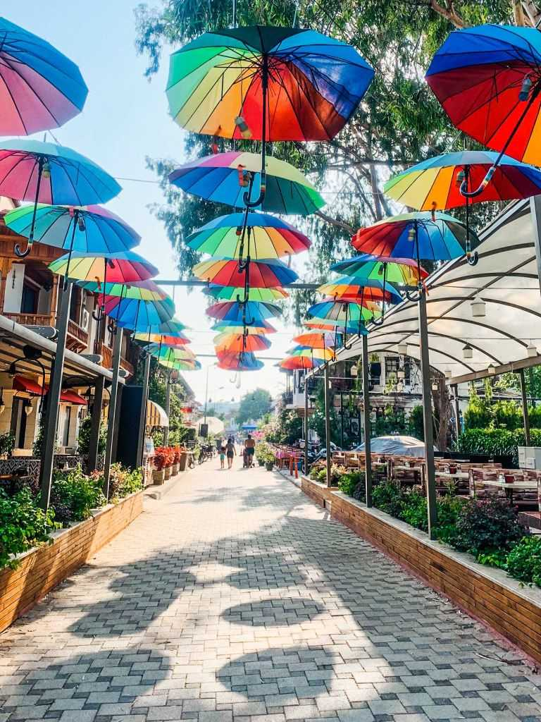 Das kleine Dorf Akyaka in der Türkei