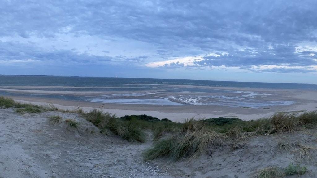 Sonnenuntergang in Maasvlakte, Holland