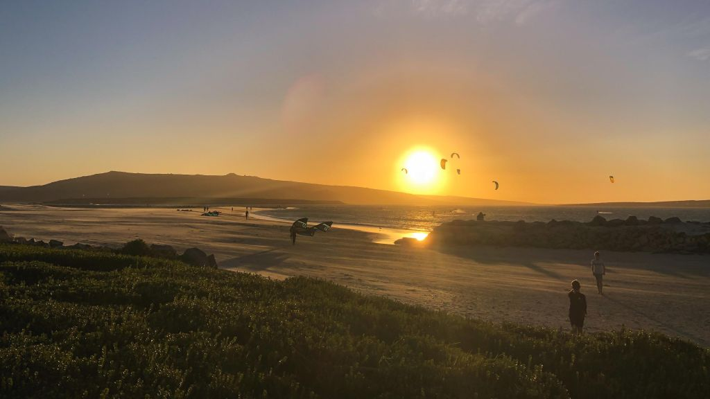 Kiten in Kapstadt, Südafrika