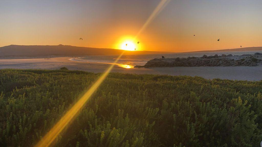 Kitesurfen in Kapstadt, Langebaan in Südafrika
