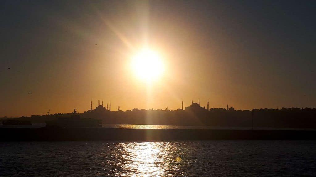 Städtetrip Istanbul, Türkei - Sonnenuntergang