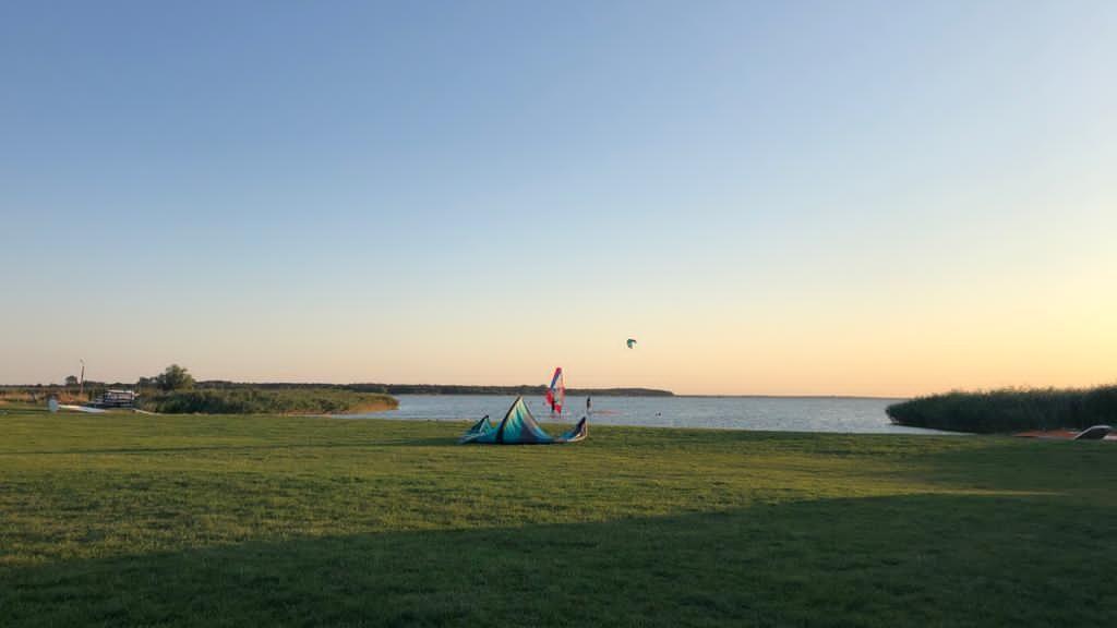 Kitesurfen an der Ostsee, Saaler Bodden