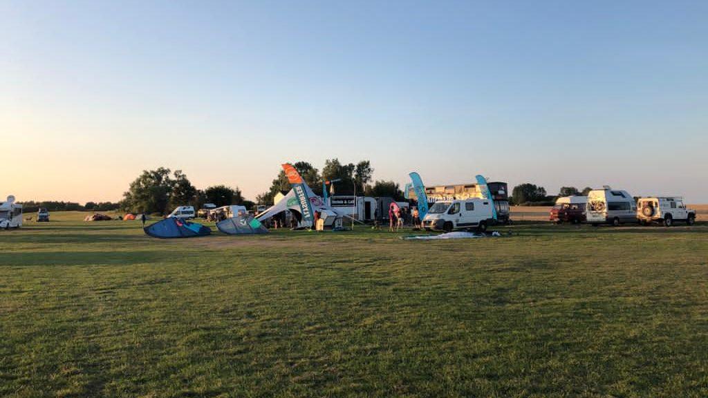 Kitesurfen und Campen an der Ostsee, Saaler Bodden