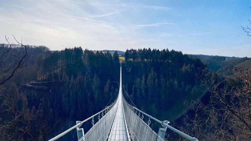 Geierlay Hängeseilbrücke im Hunsrück, Rheinland Pfalz